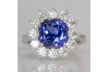Large Tanzanite Cluster Ring