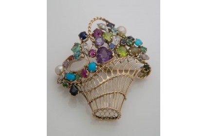 Multi-stone brooch