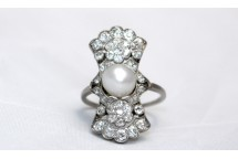Diamond and Pearl Cluster Ring