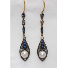 Multi- stone Drop Earrings