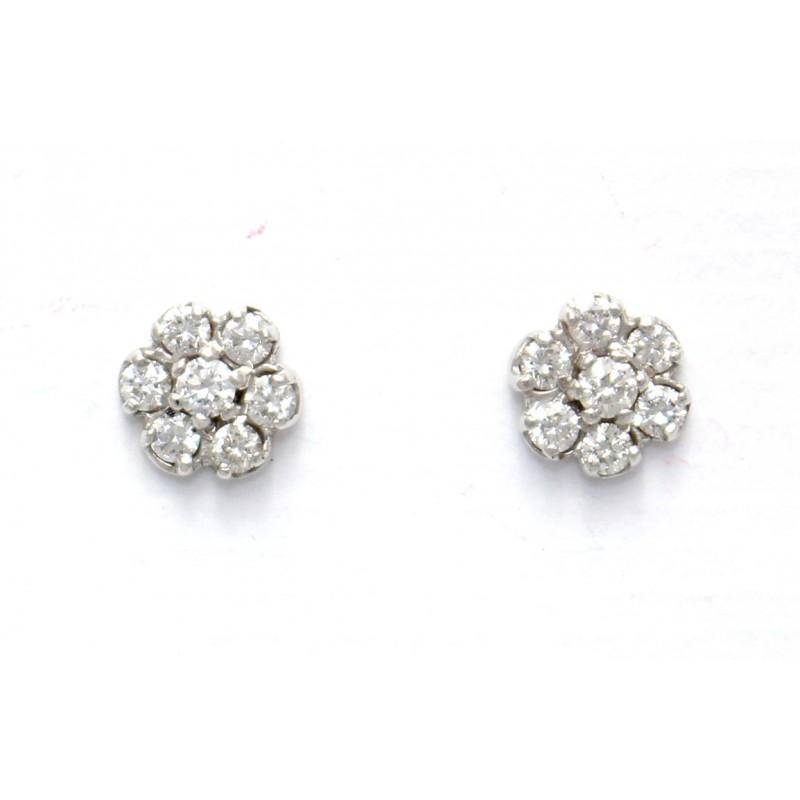 Diamond Cluster Earrings Uk