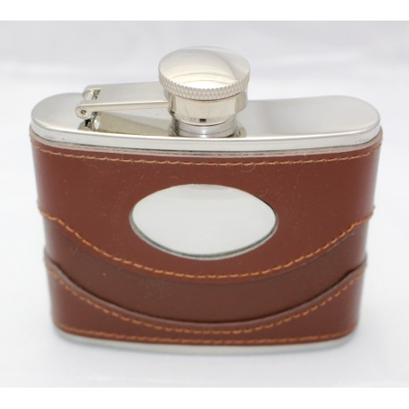 Leather Coated Hip Flask