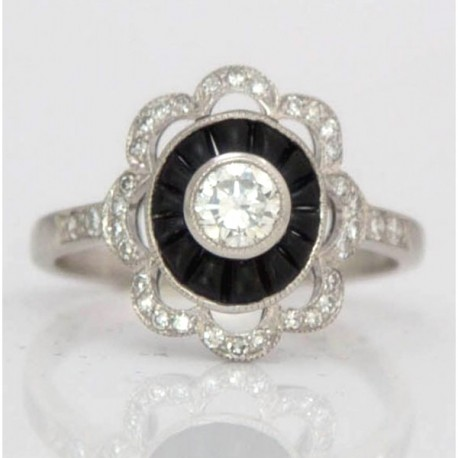 Diamond and Black Onyx Cluster