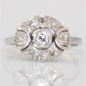 Unusual Diamond Cluster Ring