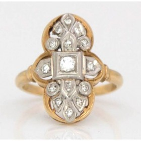 Diamond Set Cluster Ring