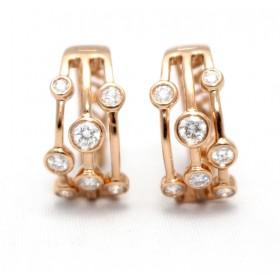 Diamond Raindance Hoop Earrings