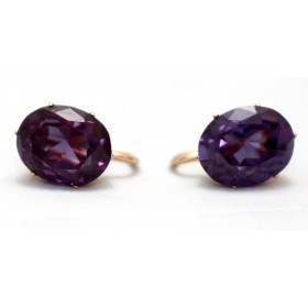 Corundum Drop Earrings