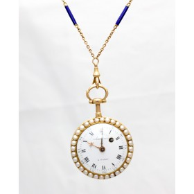 Pearl Set Pocket Watch