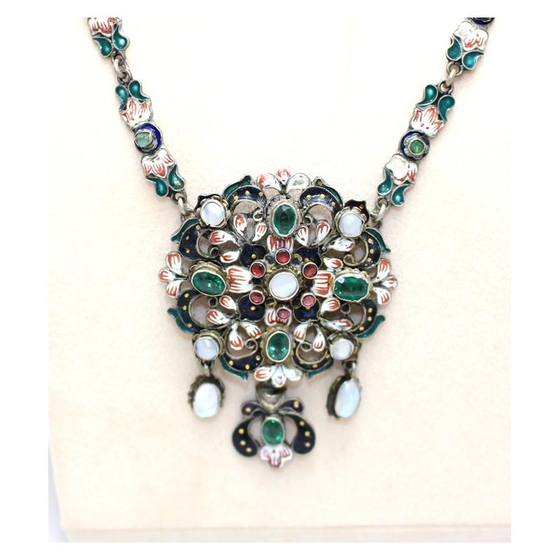 fdcd7d531 Emerald and Pearl Enamel Pendant. £ 1,800.00