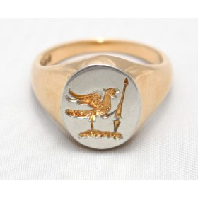 Seal Engraved Gents Signet Ring