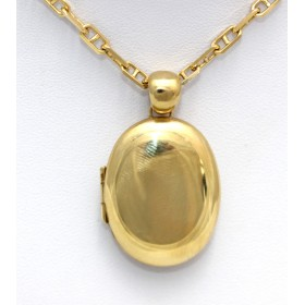 Plain Gold Locket