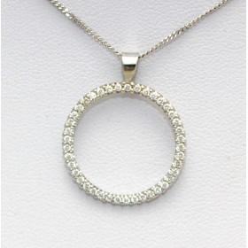 Diamond Hoop Pendant