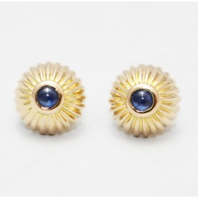 Sapphire Gold Stud Earrings