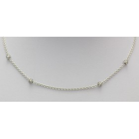 Diamond Set White Gold Chain