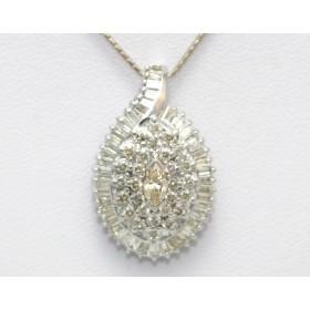 Diamond Marquise Shape Pendant