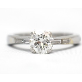 Diamond Solitaire with Diamond Shoulders