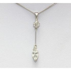 Marquise Cut Diamond Pendant