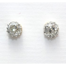 Old Round Cut Diamond Earrings