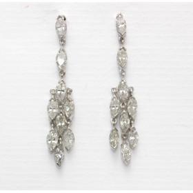 Diamond Marquise Drop Earrings
