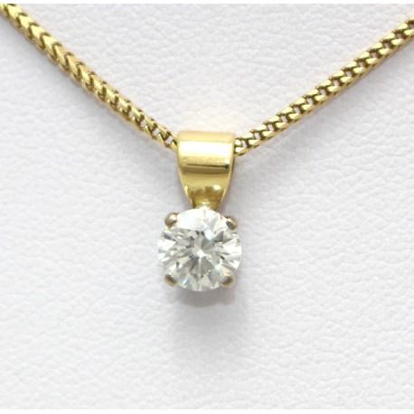 Diamond solitaire pendant 18ct yellow gold solitaire diamond pendant aloadofball Images