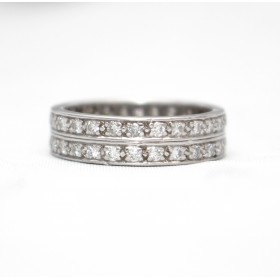 Double Diamond Row Full Eternity Ring