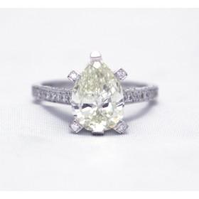 Diamond Pear Shape Ring