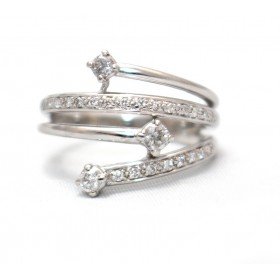 Diamond 'Rain' Ring