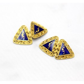 Gold and enamel cufflinks