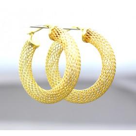 18ct Gold Mesh Hoop Earrings