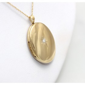 Diamond Set Gold Locket