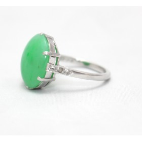 Jade Platinum Ring