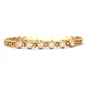 Diamond set Gold Bracelet