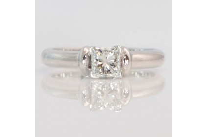 Diamond Solitaire With Heavy Set Shoulders