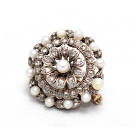 Pearl and Diamond Pendant/Brooch