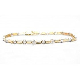 Diamond 9ct Gold Bracelet