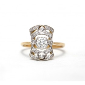 Diamond Art Deco Cluster Ring