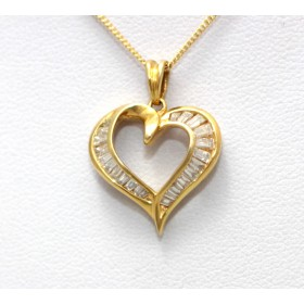 Diamond set Heart Shape Pendant