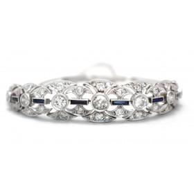 Art Deco Sapphire and Diamodn Bracelet