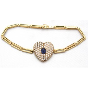 Pearl and Sapphire Gold Locket