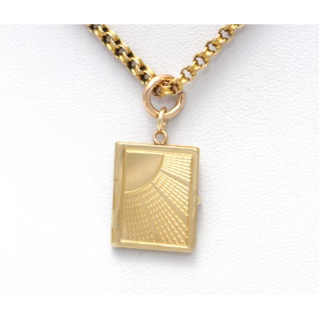 Gold Book Locket