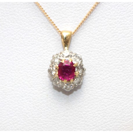 Ruby and Diamond Pendant
