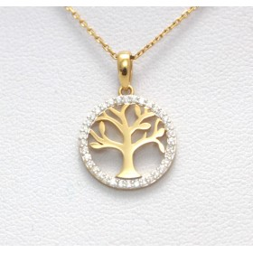 Gold Tree Pendant
