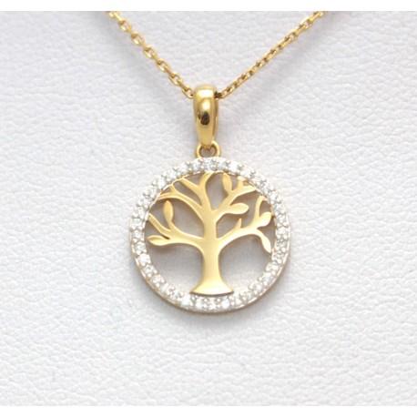 Gold Tree Pendant
