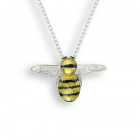Enamel Sterling Silver Bee