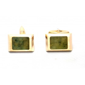Connemara Marble Gold Cufflinks