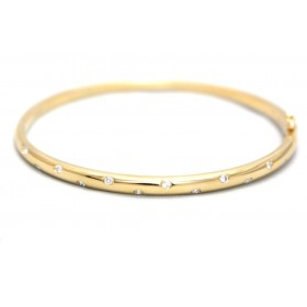 Diamond set Gold Bangle
