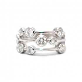 Diamond Set Rain-dance Ring
