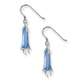 Enamel Sterling Silver Campanula Drop Earrings