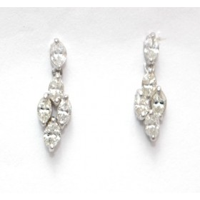 Marquise Shape Diamond Drop Earrings