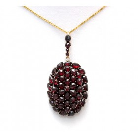 Garnet set locket